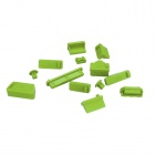 ENKAY Universal Anti-Dust Plugs for Lenovo / HP / Dell / Acer / Asus Laptop - Green (13 PCS)