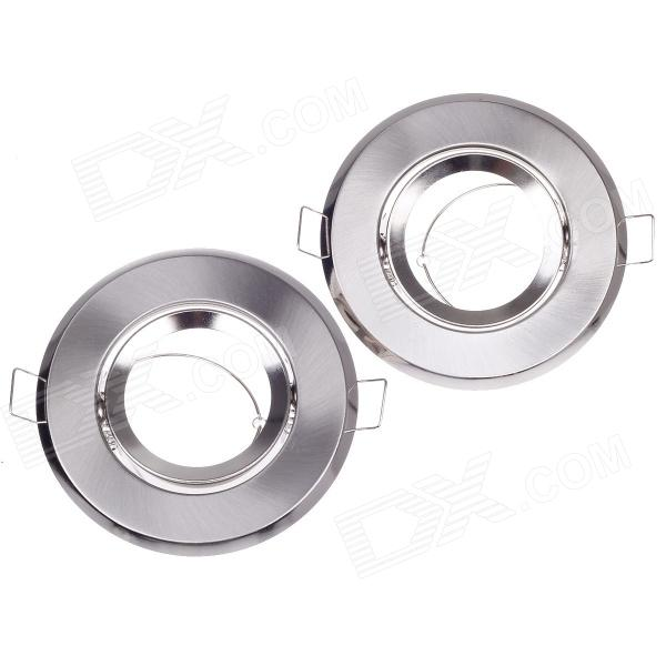 YCY A01DLL Aluminum Alloy Ceiling Lamp Shell Holder - Silver (Pair) defort dll 15t k