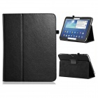 "360 Degree Rotation Textured PU Leather Case Stand for Samsung Galaxy Tab 3 P5200 10.1"" - Black"