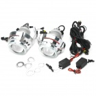 "3.0 ""H1 / H7 / H4 / 9005/9006 35W 2800lm 6000K Bi-Xenon lente do projetor Angel Eyes (12V / 2 PCS)"