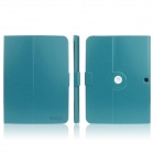ENKAY ENK-7035 360' Rotation Protective PU Leather Case Stand for Samsung Galaxy Tab 3 P5200 - Blue