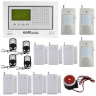 DP-40A Wireless Wired Defense Zone GSM Home Security Alarm System LCD Touch Keypad - White