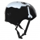 MOON MTV12 Skull Pattern Multifunction Outdoor Sports Protection Helmet - White + Black (Size L)