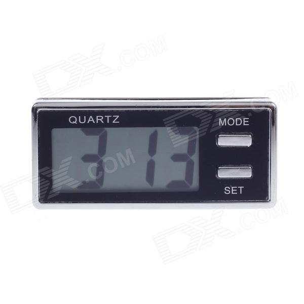 1.8 LCD Car Digital Clock - Black + Silver (1 x AG10) 40