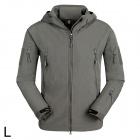 Free Soldier YRK218 Outdoor TAD Sharkskin Keep Warm Tactical Coat for Men - Grey (Size L)