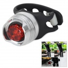 2-Mode Red Light Bike Tail Light - Silver + Red + Black (2 x CR2032)