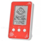 "A026 Household 2.3"" LCD Thermometer - Red + White + Black (0-50'C)"