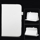 Lychee Grain Style Protective PU Leather Case for Samsung Galaxy Tab 3 T310 / T311 - White
