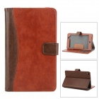 Stylish Flip-open PU Leather Case w/ Holder + Card Slot for Google Nexus 7 II - Brown + Coffee