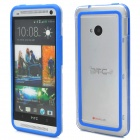 Simple Classic Plastic Bumper Frame Case für HTC One - Blau + Transparent
