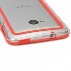 Simple Classic Plastic Bumper Frame Case for HTC One - Red + Transparent