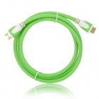 1080p 3D HDMI V1.4 Male to Male Connection Cable - Light Green + White (150cm)