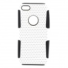 Protective PC + Silicone Back Case for Iphone 5C - White + Black