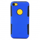 Protective PC + Silicone Back Case for Iphone 5C - Blue + Black