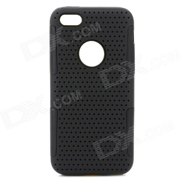 Protective PC + Silicone Back Case for Iphone 5C - Black stylish bubble pattern protective silicone abs back case front frame case for iphone 4 4s