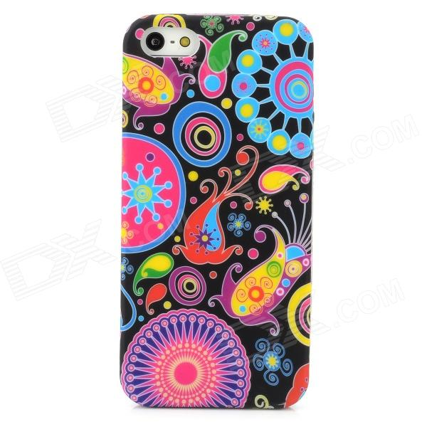 Stylish Graffiti Style Protective TPU Back Case for Iphone 5 - Multicolor
