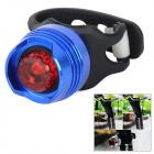 2-Mode 1-LED Red Light Bike Tail Lamp - Blue + Red + Black (2 x CR2032)