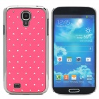 ATS868 Stylish Shiny Crystal Inlaid ABS + Electroplated Metal Back Case for Samsung S4 - Pink