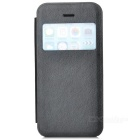Stylish Protective PU Leather Case w/ Display Window for Iphone 5C - Black