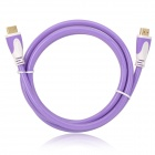 1080p 3D HDMI V1.4 Male to Male Connection Cable - Light Purple + White (150cm)