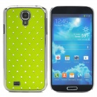 ATS868 Stylish Shiny Crystal Inlaid ABS + Electroplated Metal Back Case for Samsung S4 - Green