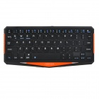 Seenda IBK-01 Super Slim Wireless Bluetooth V3.0 64-key  Keyboard w/ Tablet PC Stand - Black
