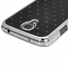 ATS868 Stylish Shiny Crystal Inlaid ABS + Electroplated Metal Back Case for Samsung S4 - Black