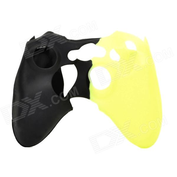 Protective Silicone Case for XBOX360 Control Pad - Yellow + Black protective silicone cover case for xbox 360 controller white blue