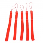 Fabric Hand Strap for WiiU / Wii Game Pad Controller - Red (5 PCS)