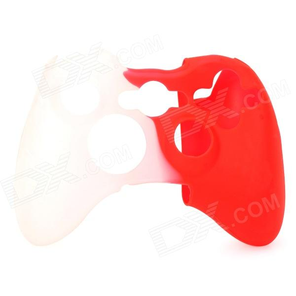 Protective Silicone Case for XBOX360 Control Pad - Red + White protective silicone cover case for xbox 360 controller yellow blue