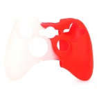 Protective Silicone Case for XBOX360 Control Pad - Red + White