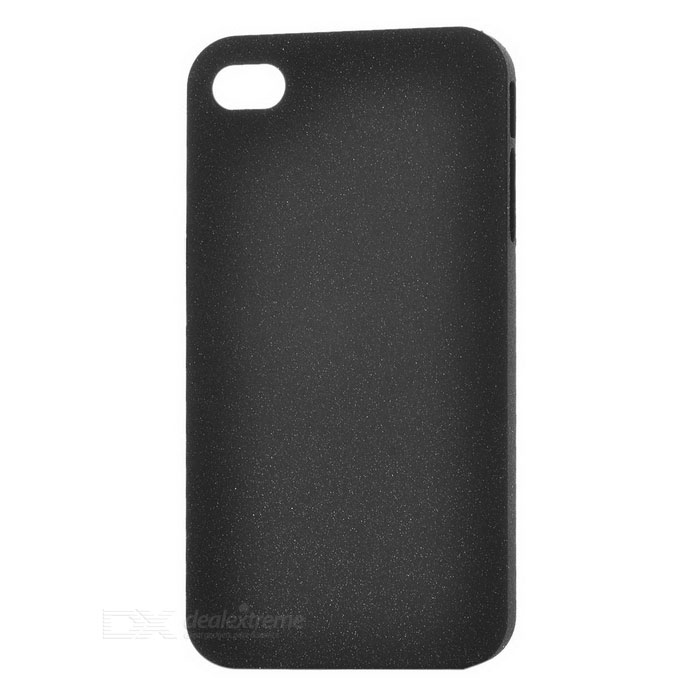 Protective Drift Sand ABS Back Case for Iphone 4 / 4S - Black