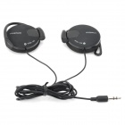 PUQINUO PQN-140 Stylish Universal 3.5mm Jack Wired Earphone for MP3 - Black