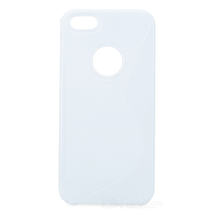 Protective TPU Back Case for Iphone 5 - White pc tpu protective back case for iphone 5 black white