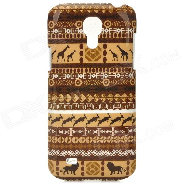 Stylish Animal Tribal Pattern Plastic Back Case for Samsung S4 Mini i9190 - Brown