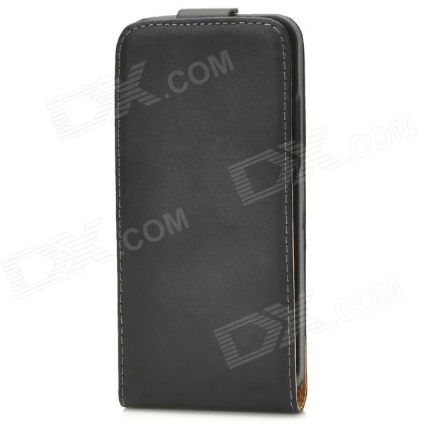 LXHM4 Classic Flip-open Split Sheepskin Case for HTC One Mini M4 - Black