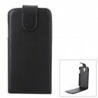 Protective Flip-Open PU Leather Case for Samsung Galaxy S4 Active i9295 - Black