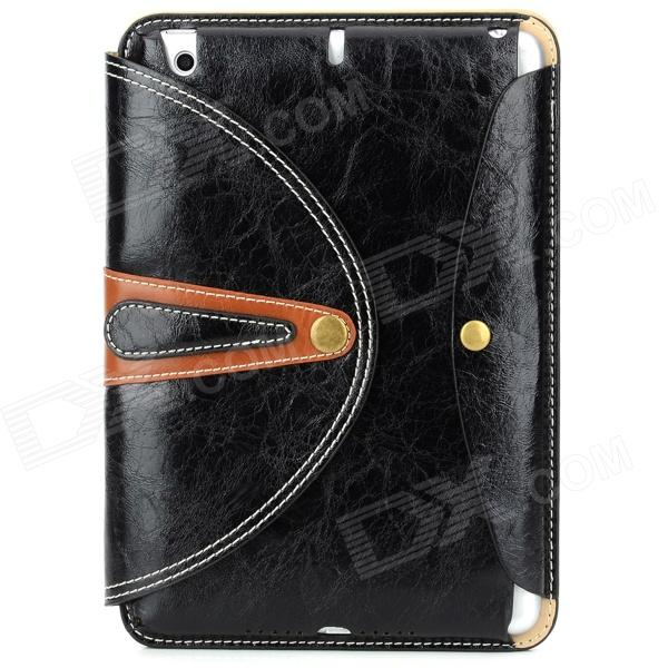 360 Degree Rotation Protective PU Leather Case Cover Stand w/ Auto Sleep for Ipad MINI - Black 360 degree rotation protective pu leather case cover stand for dell venue 8 pro black