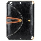 360 Degree Rotation Protective PU Leather Case Cover Stand w/ Auto Sleep for Ipad MINI - Black