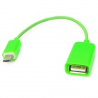Micro USB Male to OTG Female Cable for Samsung / Mi + Android Cellphones - Green (15cm)