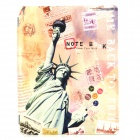Statue of Liberty Pattern 3-Fold TPU Cover Stand for Ipad 2 / 3 - Multicolored