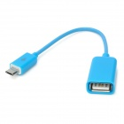 Micro USB Male to USB Female OTG Cable for Samsung / HTC / Xiaomi / Sony / Motorola - Blue