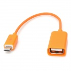 Micro USB Male to USB Female OTG Cable for Samsung / HTC / Xiaomi / Sony / Motorola - Orange