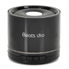 BD-20 Stylish Mini 3W Speaker w/ USB 2.0 / TF / FM Radio - Black