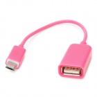 Micro USB Male to USB Female OTG Cable for Samsung / HTC / Xiaomi / Sony / Motorola - Deep Pink