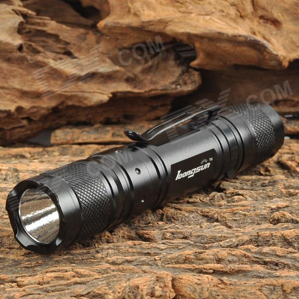 Longsun LX-MN30 150lm 2-Mode White Flashlight w/ Cree XR-E Q5 - Black (1 x 18650)