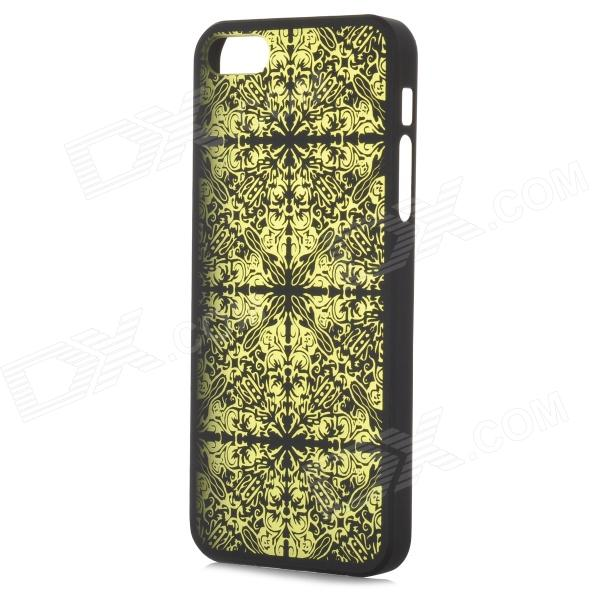Laser Flower Pattern Protective PC Back Case for Iphone 5 - Black + Green - DXPlastic Cases<br>Brand N/A Quantity 1 Piece Color Black + green Material PC Type Full Body Cases Compatible Models Iphone 5 Other Features Protects your device from scratches dust and shock; Precise design allows to access to all the interfaces and controls easily Packing List 1 x Protective case<br>