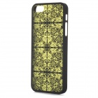 Laser Flower Pattern Protective PC Back Case for Iphone 5 - Black + Green