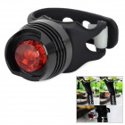 2-Mode Red Light Bike Tail Light -  Black (2 x CR2032)