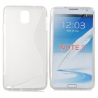 """S"" Style Protective TPU Back Case for Samsung Galaxy Note 3 - Translucent White"